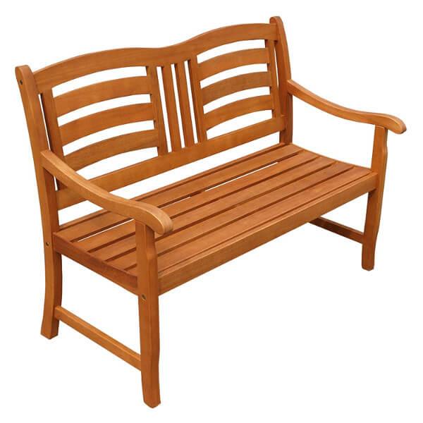 Holz-Gartenbank für 2 Personen