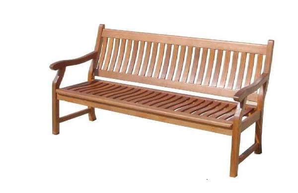 Gartenbank aus Massivholz für 3 Personen