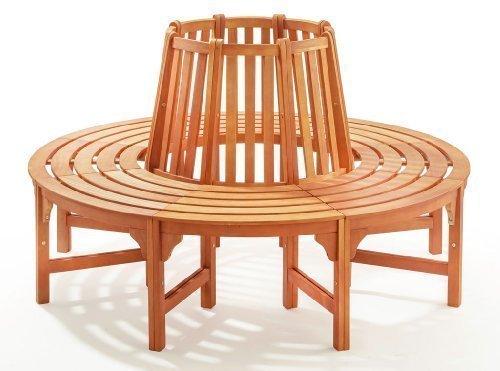 Runde Baumbank aus Holz