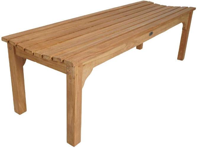 Holzgartenbank für 2 Personen ohne Lehnen