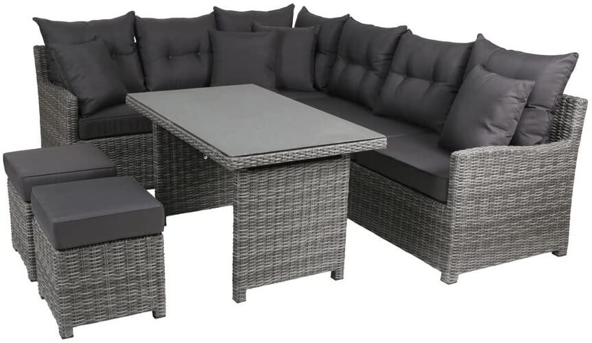 Rattan Gartenmöbel-Lounge-Set