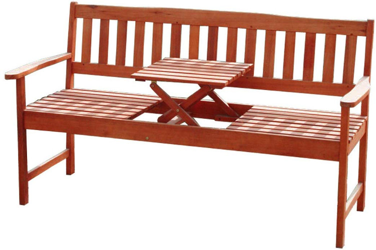Holzgartenbank mit Tisch der Marke KMH