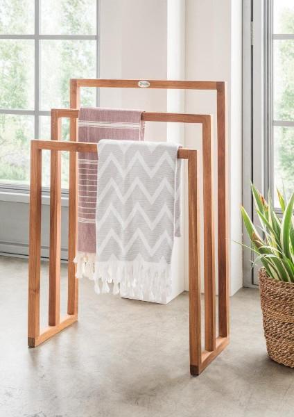 3er Handtuchhalter aus Holz